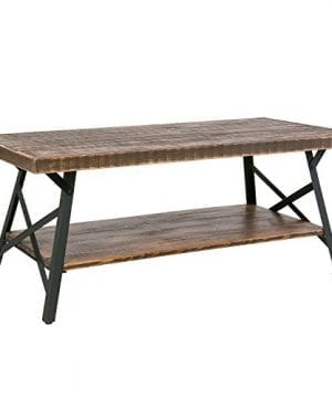 HarperBright Designs Solid Wood Coffee Table Metal Leg 0 300x360