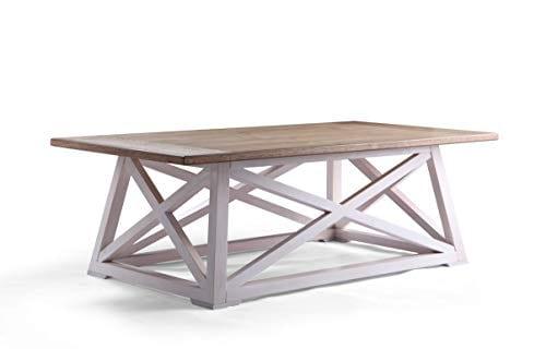 Haven Home 6008 257 Finley Farmhouse Coffee Table White 0