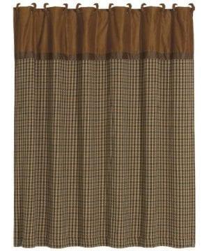 HiEnd Accents Crestwood Houndstooth Shower Curtain 0 300x360