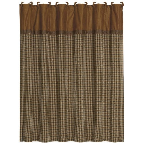 HiEnd Accents Crestwood Houndstooth Shower Curtain 0