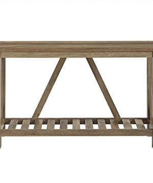 Home Accent Furnishings New 52 Inch Wide A Frame Entry Table Rustic Oak Finish 0 1 300x360