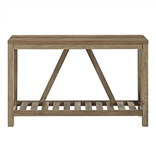 Home Accent Furnishings New 52 Inch Wide A Frame Entry Table Rustic Oak Finish 0 1