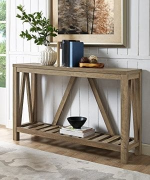 Home Accent Furnishings New 52 Inch Wide A Frame Entry Table Rustic Oak Finish 0 300x360