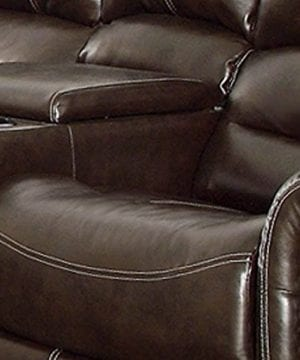 Homelegance 9668BLK 1 Glider Reclining Chair Black Bonded Leather 0 2 300x360