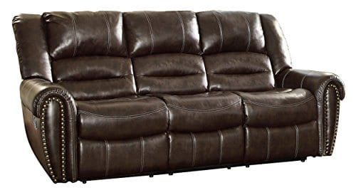 Homelegance 9668BLK 1 Glider Reclining Chair Black Bonded Leather 0