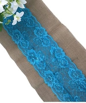Huachnet Natural Jute Burlap Hessian Table Runner With Lace Trim Rustic Wedding Party Decor Sewing Craft 30275CM 3 Yard 0 300x360