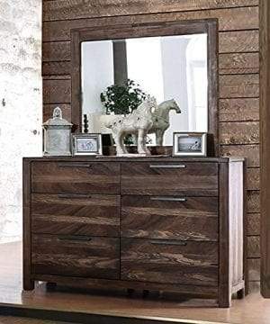 Hutchinson Transitional Style Rustic Natural Tone Finish 6 Piece Bedroom Set 0 0 300x360