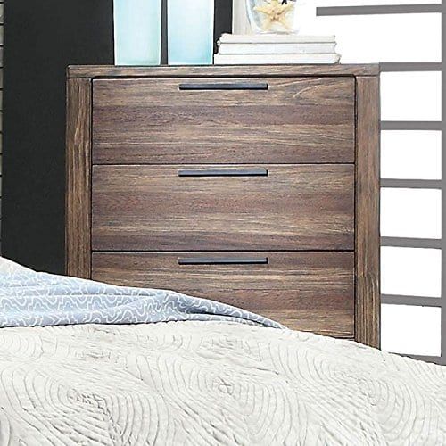 Hutchinson Transitional Style Rustic Natural Tone Finish 6 Piece Bedroom Set 0 1