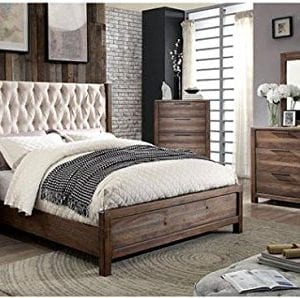 Hutchinson Transitional Style Rustic Natural Tone Finish 6 Piece Bedroom Set 0 300x298