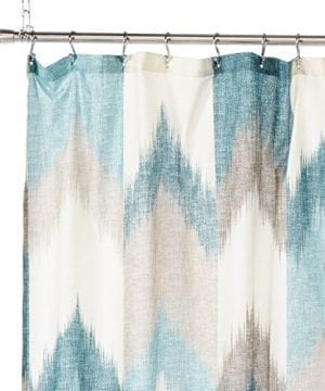 InkIvy Alpine Cotton Printed Shower Curtain 0 0 300x360