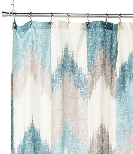 InkIvy Alpine Cotton Printed Shower Curtain 0 0