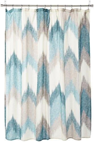 InkIvy Alpine Cotton Printed Shower Curtain 0