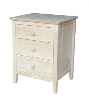 International Concepts BD 8013 Nightstand With 3 Drawers Standard 0 300x360