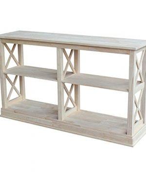 International Concepts Hampton Sofa Server Table With Shelves 0 300x360