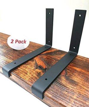 2 Pack 1125x6 Lip Wall Shelf Brackets Angle Metal Shelve Modern Industrial Rustic 0 300x360
