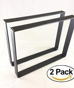 2 Pack 2 Wide 14 Thick Metal Size Range 8 25L X 8 25H Square Metal Legs Table Legs Bench Legs Legs Industrial Modern DIY 0 300x360