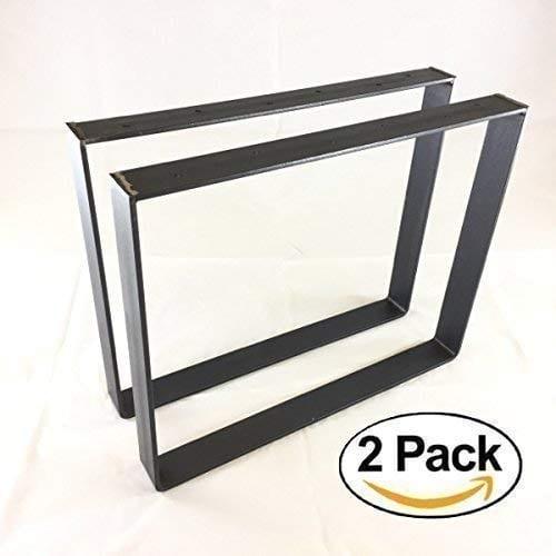 2 Pack 2 Wide 14 Thick Metal Size Range 8 25L X 8 25H Square Metal Legs Table Legs Bench Legs Legs Industrial Modern DIY 0