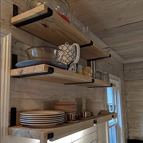 2 Pack 725L X 4H Hook Brackets Hook Iron Shelf Brackets J Bracket Metal Shelf Bracket Industrial Shelf Bracket Modern Shelf Bracket 0 1