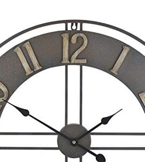 236 Inch Oversized Rustic Vintage Metal Silent Non Ticking Battery Operated Decorative Wall Clock With Large Arabic Numerals 0 1 300x334
