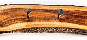 2WAYZ Handmade Wood And Iron Iron Coat And Towel Rack Farmhouse Rustic Hooks Hanger Design 0 0 300x140