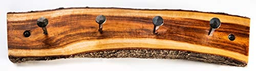 2WAYZ Handmade Wood And Iron Iron Coat And Towel Rack Farmhouse Rustic Hooks Hanger Design 0 0