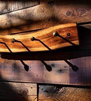 2WAYZ Handmade Wood And Iron Iron Coat And Towel Rack Farmhouse Rustic Hooks Hanger Design 0 2 300x333