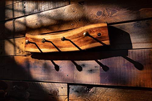 2WAYZ Handmade Wood And Iron Iron Coat And Towel Rack Farmhouse Rustic Hooks Hanger Design 0 2