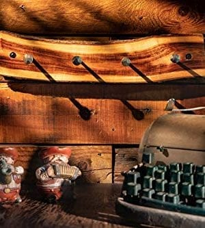 2WAYZ Handmade Wood And Iron Iron Coat And Towel Rack Farmhouse Rustic Hooks Hanger Design 0 4 300x333