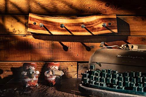 2WAYZ Handmade Wood And Iron Iron Coat And Towel Rack Farmhouse Rustic Hooks Hanger Design 0 4