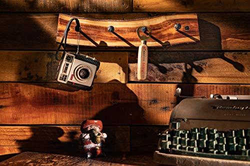 2WAYZ Handmade Wood And Iron Iron Coat And Towel Rack Farmhouse Rustic Hooks Hanger Design 0 5