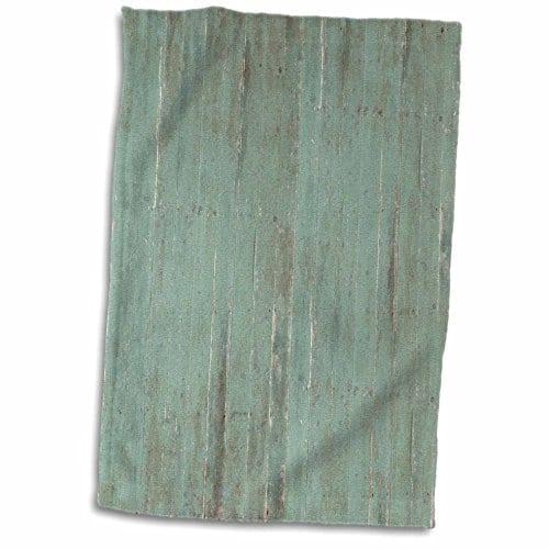 3D Rose Rustic Green Wood Look TWL1832651 Towel 15 X 22 0