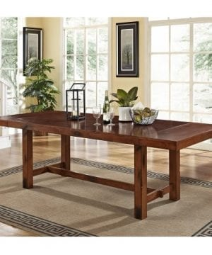 6 Piece Solid Wood Dining Set Dark Oak 0 0 300x360