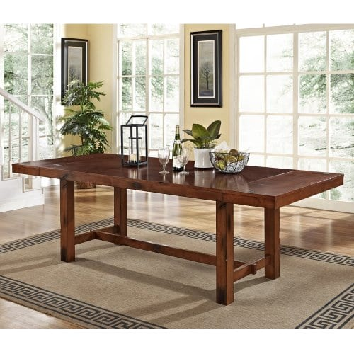 6 Piece Solid Wood Dining Set Dark Oak 0 0