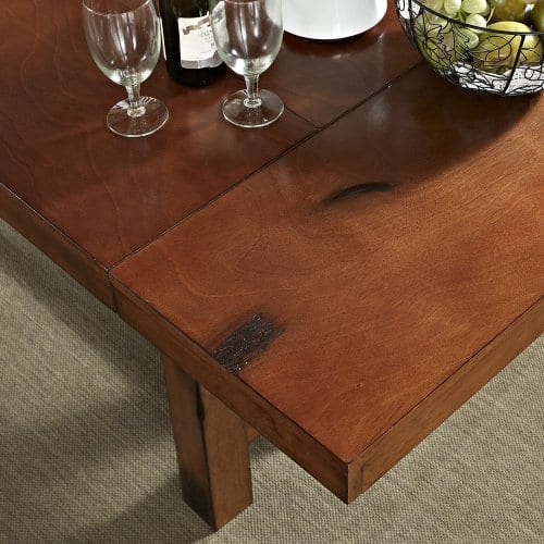 6 Piece Solid Wood Dining Set Dark Oak 0 2