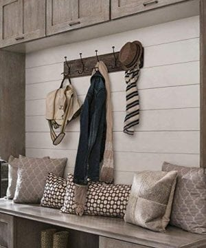 AVIGNON HOME Rustic Coat Rack With Hooks Vintage Wooden Wall Mounted Coat Rack 38 Inches Wide And 7 Inches High For Entryway Bathroom And Closet 0 0 300x360