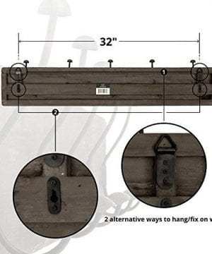 AVIGNON HOME Rustic Coat Rack With Hooks Vintage Wooden Wall Mounted Coat Rack 38 Inches Wide And 7 Inches High For Entryway Bathroom And Closet 0 1 300x360