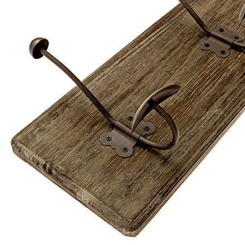 AVIGNON HOME Rustic Coat Rack With Hooks Vintage Wooden Wall Mounted Coat Rack 38 Inches Wide And 7 Inches High For Entryway Bathroom And Closet 0 3
