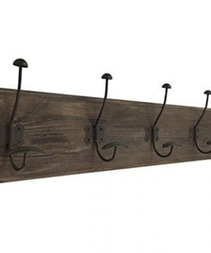 AVIGNON HOME Rustic Coat Rack With Hooks Vintage Wooden Wall Mounted Coat Rack 38 Inches Wide And 7 Inches High For Entryway Bathroom And Closet 0 300x360