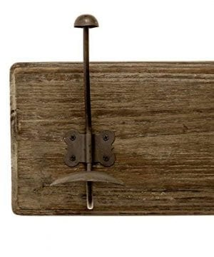 AVIGNON HOME Rustic Coat Rack With Hooks Vintage Wooden Wall Mounted Coat Rack 38 Inches Wide And 7 Inches High For Entryway Bathroom And Closet 0 4 300x360