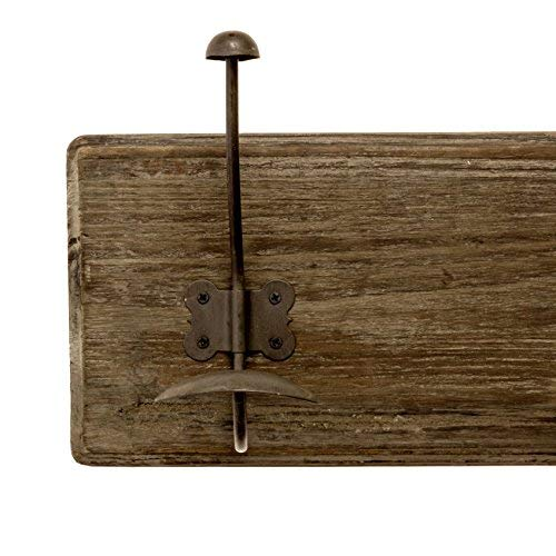 AVIGNON HOME Rustic Coat Rack With Hooks Vintage Wooden Wall Mounted Coat Rack 38 Inches Wide And 7 Inches High For Entryway Bathroom And Closet 0 4