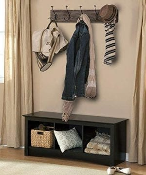 AVIGNON HOME Rustic Coat Rack With Hooks Vintage Wooden Wall Mounted Coat Rack 38 Inches Wide And 7 Inches High For Entryway Bathroom And Closet 0 5 300x360