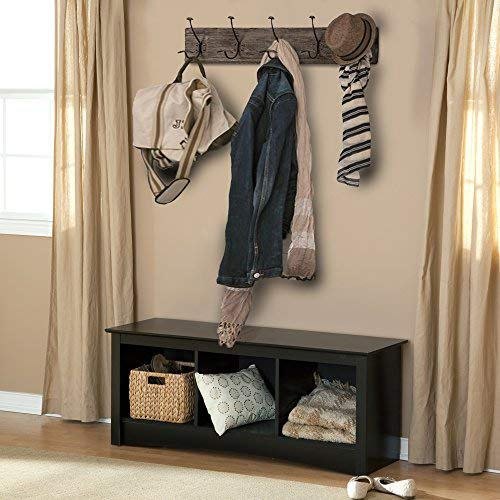 AVIGNON HOME Rustic Coat Rack With Hooks Vintage Wooden Wall Mounted Coat Rack 38 Inches Wide And 7 Inches High For Entryway Bathroom And Closet 0 5
