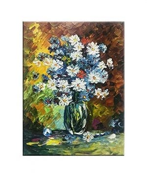 Abtract Oil Paintings On Canvas Hand Painted Wall Artwork Flower Paintings For Bedroom Living Room Office Decor 16x12 Inch 0 300x360