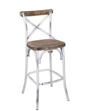 Acme Furniture 96642 Zaire Bar Chair WalnutAntique White 0 300x360