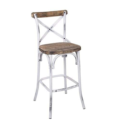 Acme Furniture 96642 Zaire Bar Chair WalnutAntique White 0