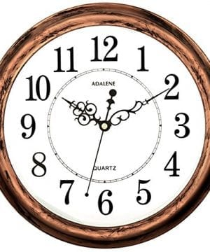 Adalene 13 Inch Large Non Ticking Silent Wall Clock Decorative Battery Operated Quartz Analog Quiet Wall Clock For Living Room Kitchen Bedroom 0 300x360