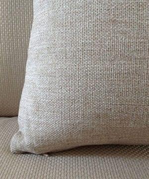 Aeneontrue Cotton Linen Deer Print Decorative Throw Pillow Cover 18 X 18 Inch Home Decor Cushion Cover Case Square 0 0 300x360