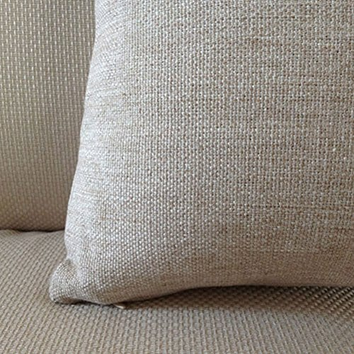 Aeneontrue Cotton Linen Deer Print Decorative Throw Pillow Cover 18 X 18 Inch Home Decor Cushion Cover Case Square 0 0