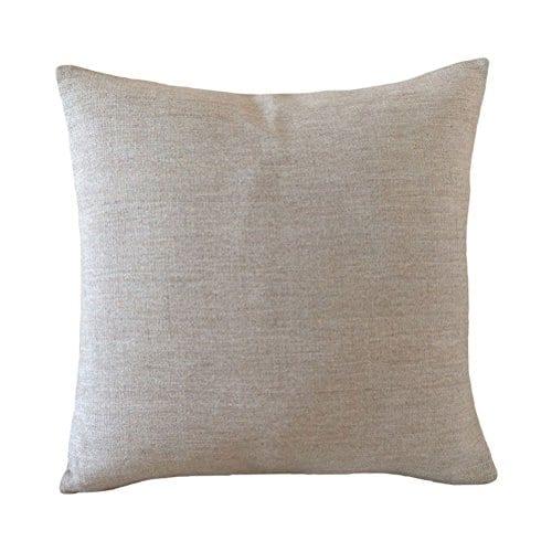 Aeneontrue Cotton Linen Deer Print Decorative Throw Pillow Cover 18 X 18 Inch Home Decor Cushion Cover Case Square 0 2