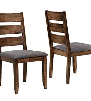 Alston Ladderback Dining Side Chairs Knotty Nutmeg And Grey Set Of 2 0 0 300x333